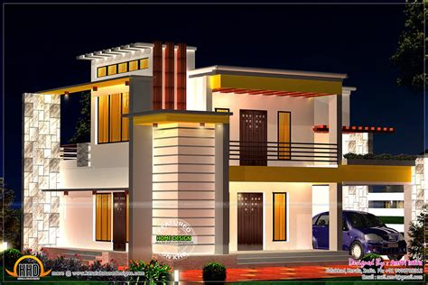 modern flat roof house designs july 2014 kerala home design and floor plans