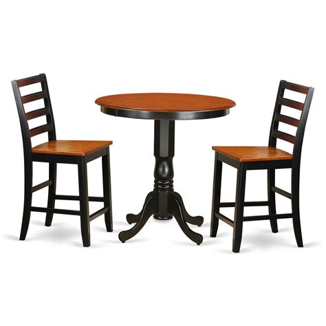 bar top tables and chairs wooden importers jackson 3 piece counter height pub table