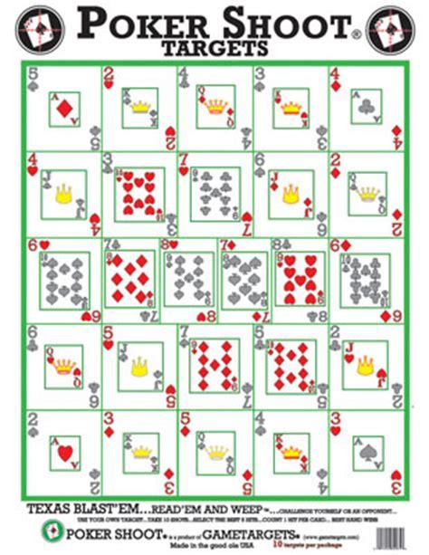 printable playing card targets poker shoot game target 10 pack oversize gametarget