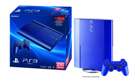 Blue Ps3 8 playstation 3 coming in azurite blue on october 8th