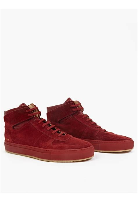 by common projects sneakers common projects suede hi top basketball sneakers in