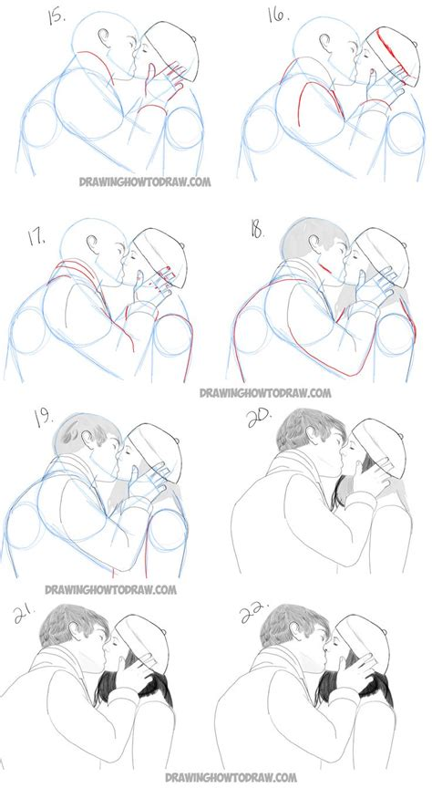 Tutorial How To Kiss A Boy | 25 best ideas about draw two on pinterest draw faces