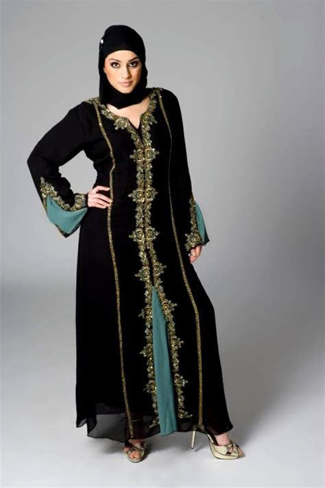 Abaya Saudi Bordir Gold arabian dresses for abaya style dresses for dubai