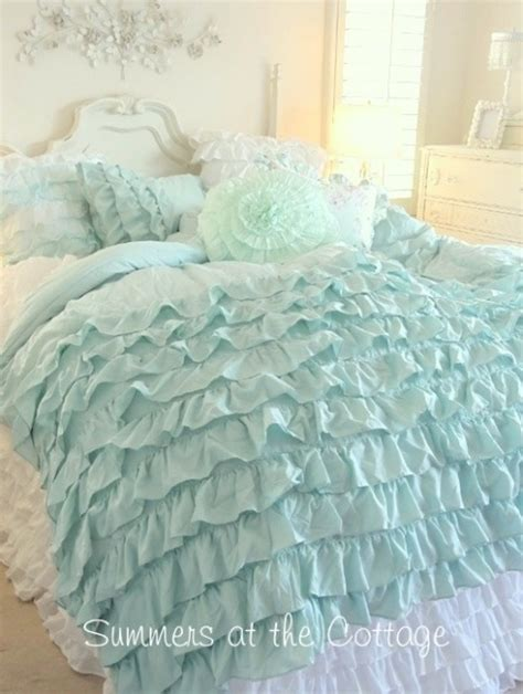 pretty blue bedding shabby chic cottage decor pinterest