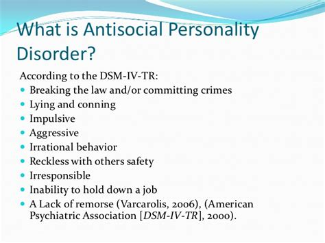 anti social personality disorder children and antisocial personality disorder
