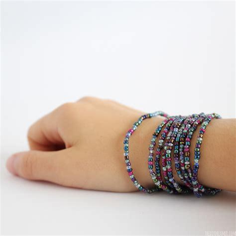 beaded wrap bracelet diy easy craft diy colorful beaded wrap bracelet where to