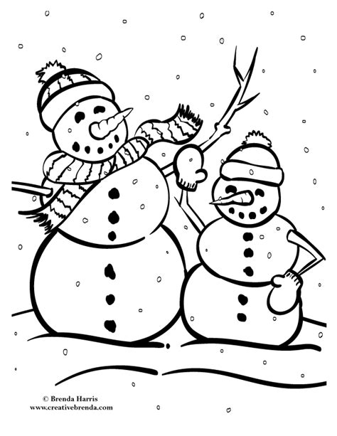 winter coloring pages creative brenda