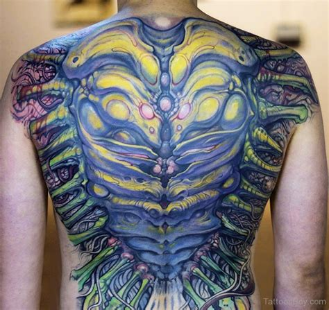 tattoo biomechanical back biomechanical tattoos tattoo designs tattoo pictures