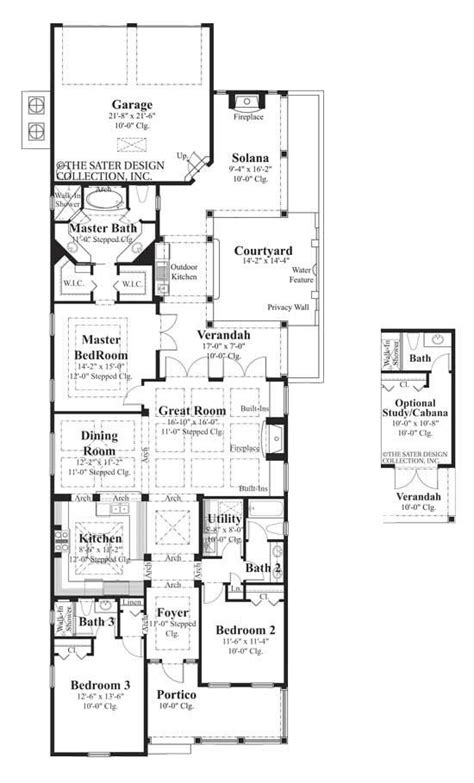 narrow lot luxury house plans 17 best images about house plans on pinterest house