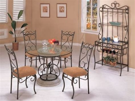 Wrought Iron Dining Room Furniture Wrought Iron Dining Room Sets On Large Light Blue Rug Homes Showcase