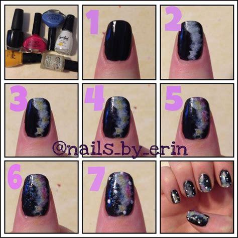 tutorial nail art galaxy galaxy nail art tutorial my nail tutorials pinterest