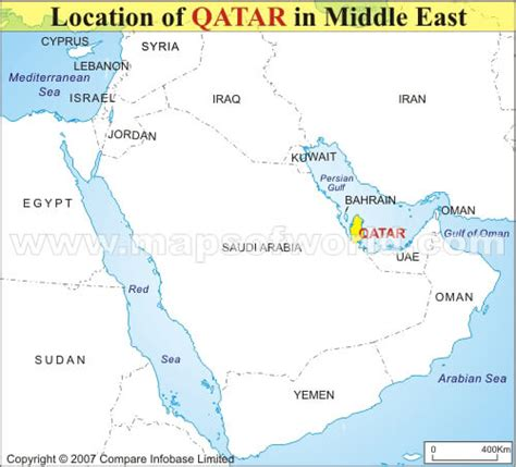 middle east map qatar qatar map
