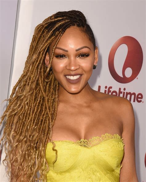 meagan good inspired hairstyle on short natural hair meagan good dreadlocks meagan good looks stylebistro