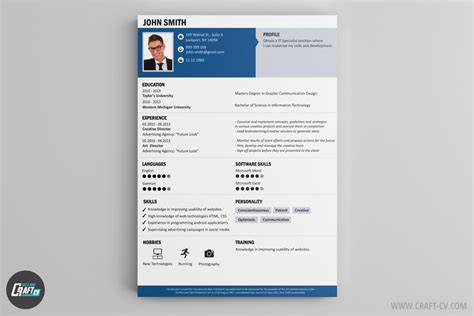 Cv Resume Example by Resume Builder Creative Resume Templates Craftcv
