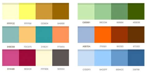 color pairings set of color combinations psd file free download