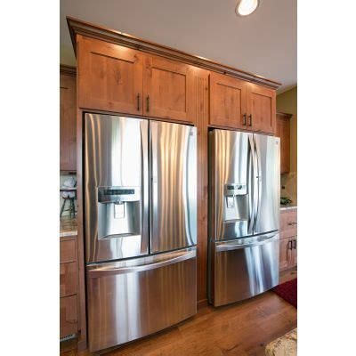 Cabin Refrigerators by Two Refrigerators Side By Side Knotty Alder Cabinets