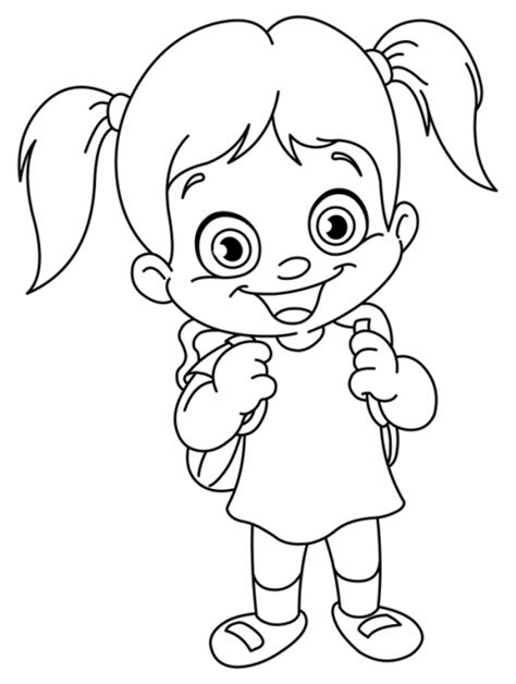 coloring pictures on girl go games kostenlose malvorlage schule schulkind mit schultasche