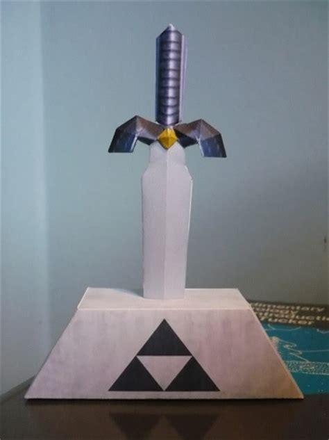 Master Sword Papercraft - master sword pedestal paper crafts magazine