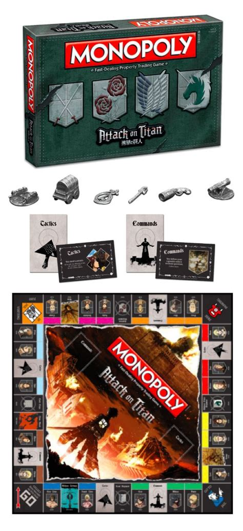 Promo Monopoly Attack On Titan Board 17 best images about themed monopoly 174 on rick and morty jurassic world and travel