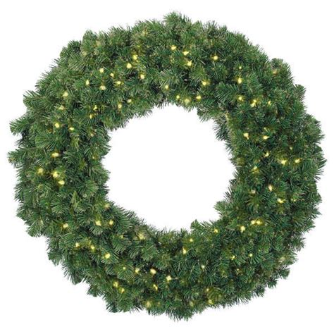 4 ft christmas wreath classic pvc needles alaskan fir