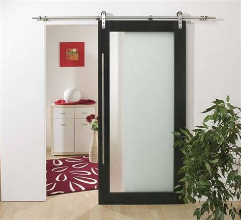 Interior Glass Barn Doors Modern Barn Style Wood Sliding Door System Contemporary Interior Doors Hong Kong By
