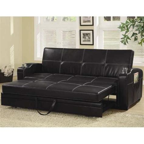leather sofa beds with storage sofa beds faux leather sofa bed with storage and cup