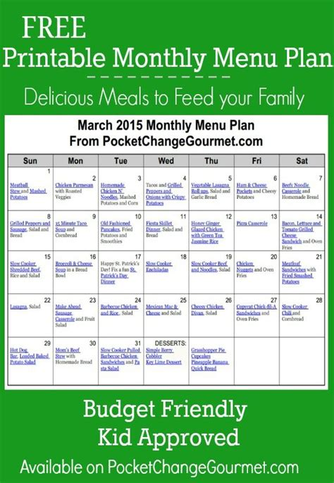 budget dinner menu delicious meals to feed your family in the march monthly