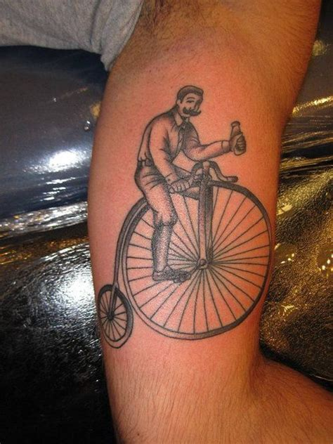 penny tattoo how freaking adorable it s a farthing bicycle