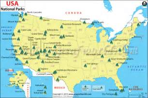 us national parks us national parks map