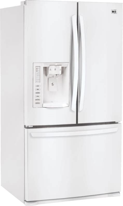 Clear Glass Door Refrigerator Lg Lfx28977sw 27 6 Cu Ft Door Refrigerator With Adjustable Glass Shelves Clear Gallon