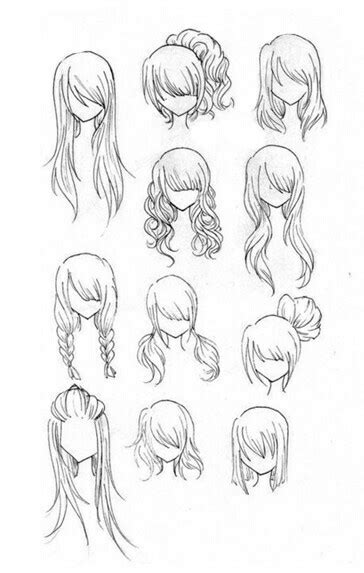 hairstyles drawing tutorials hairstyles girl woman how to draw manga anime