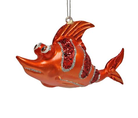 tropical ocean reef fish christmas ornament orange ebay