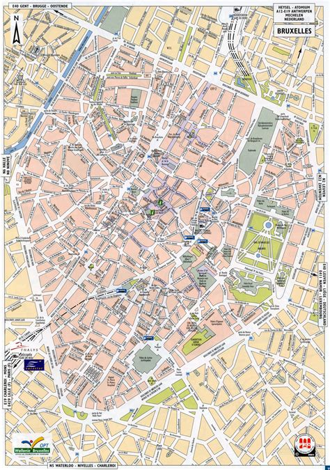 map brussels belgium maps of brussels detailed map of brussels in