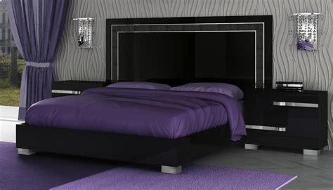 volare king size modern black bedroom set pc   italy ebay