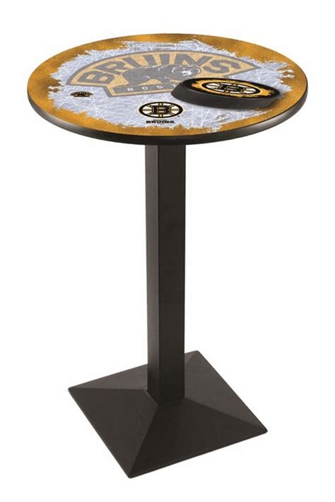 36 Inch High Table by Boston Bruins 36 Inch High 36 Inch Top Black L217 Pub Table