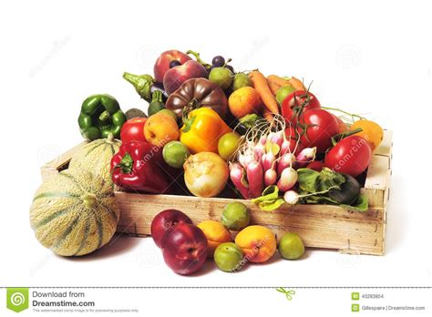 Crates Of Fruit And Vegetables Stock Photo   Image: 43283804