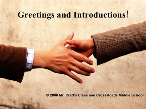 greetings for greetings and introductions