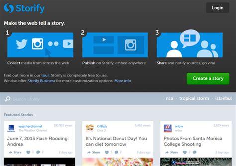 storify make the web tell a story 10 free professional marketing tools