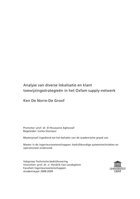 thesis abstract voorbeeld voorwoord master thesis