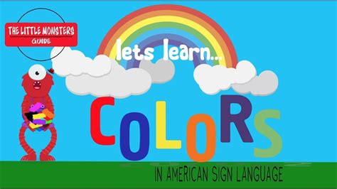asl colors asl colors signing for
