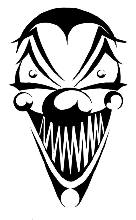 tribal clown tattoos clown 1 by mearley on deviantart