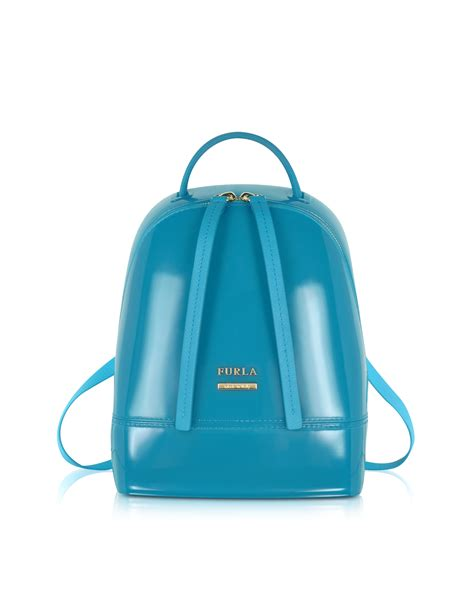 Jelly Chanelly Jelly Bag Gold by Furla Jelly Rubber Mini Backpack In Blue Lyst