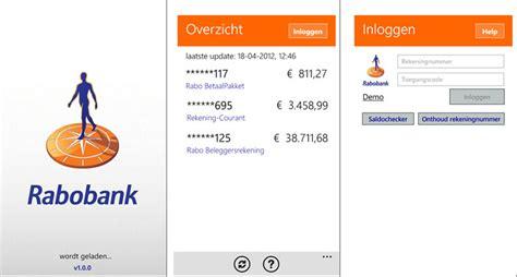 bank rabobank rabobank releases mobile banking app for windows phone