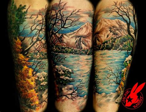 67 mountain tattoos on sleeve
