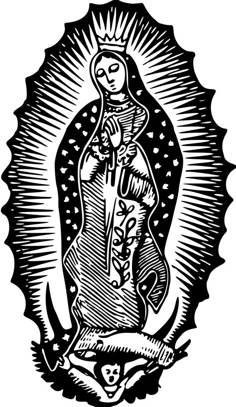 clipart virgin of guadalupe
