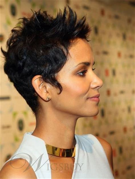 halle berry hairstyles weaves or wigs halle berry 100 human hair new fashion short straight