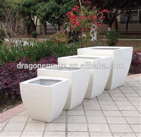 White Square Outdoor Planters by Large Outdoor Rectangular Fiberglass Clay Planter Box