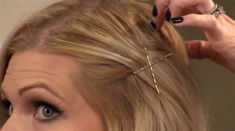 cute way to pull back medium gair how to bobby pin your hair youtube