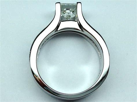 engagement ring princess cut bridge engagement