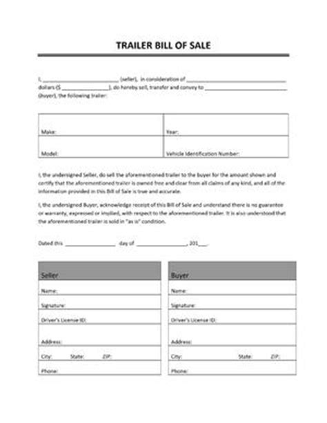 utility trailer bill of sale pdf brenda sullivan